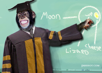 teaching monkey